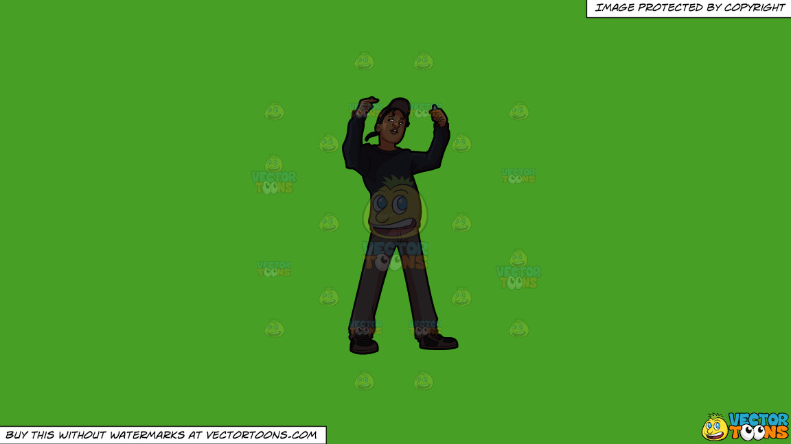 A Guy Rapper On A Solid Kelly Green 47a025 Background thumbnail