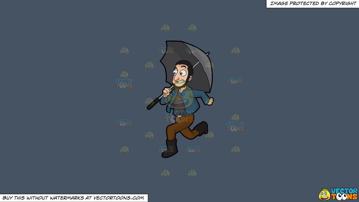 A Guy Running Away From The Rain On A Solid Metal Grey 465362 Background thumbnail
