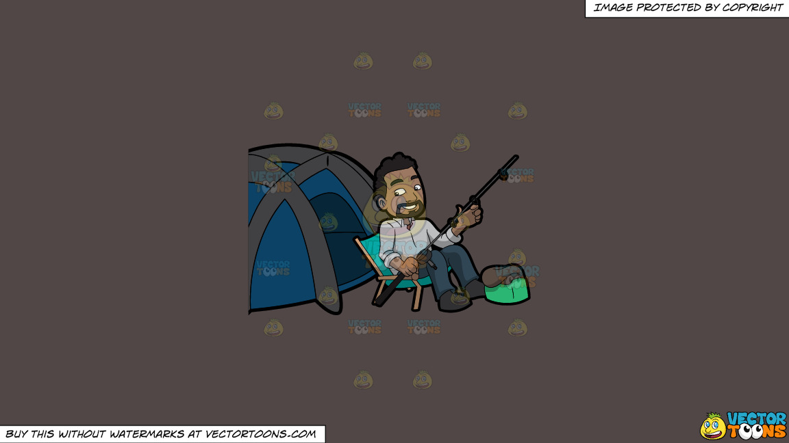 A Happy Camper Getting Some Rest Before Fishing On A Solid Quartz 504746 Background thumbnail