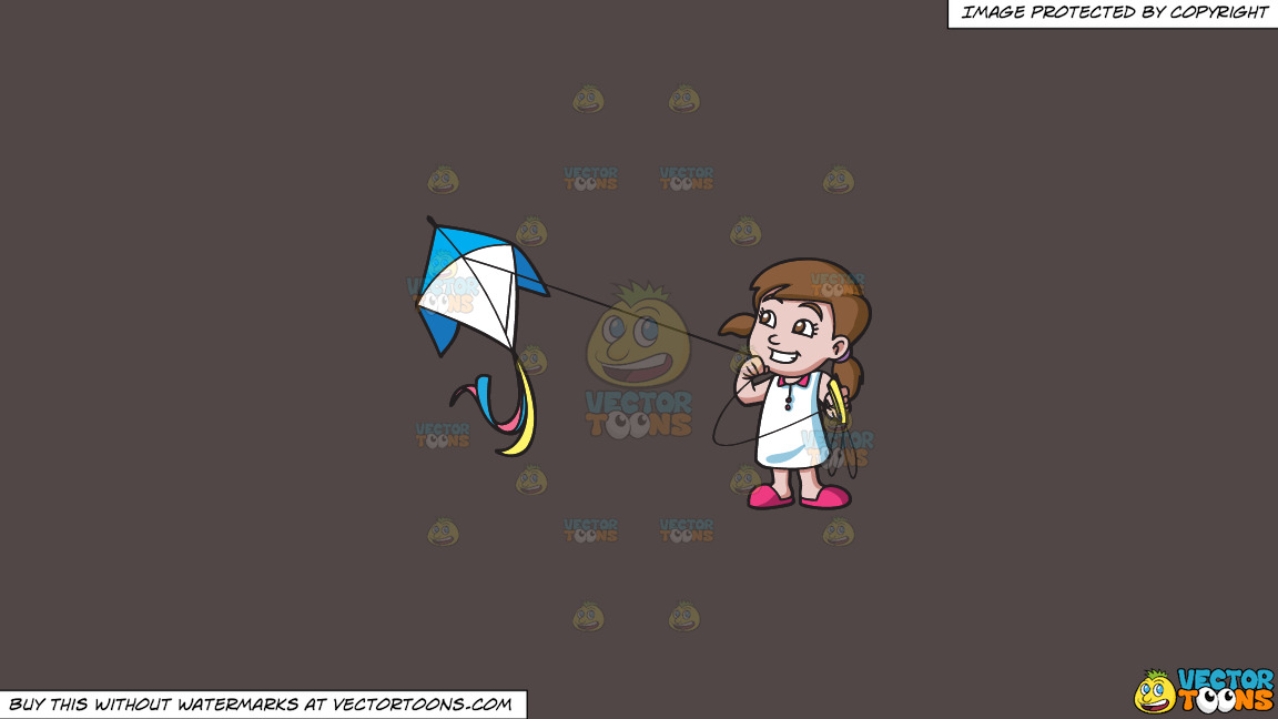 A Happy Girl Flying A Kite On A Solid Quartz 504746 Background thumbnail