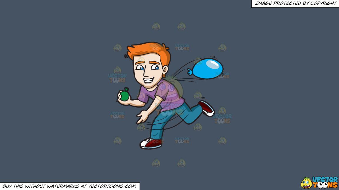 A Happy Guy Throwing Water Balloons On A Solid Metal Grey 465362 Background thumbnail
