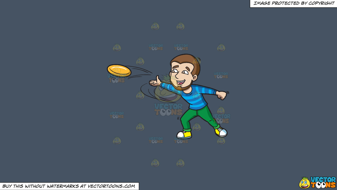 A Happy Man Throwing A Frisbee On A Solid Metal Grey 465362 Background thumbnail
