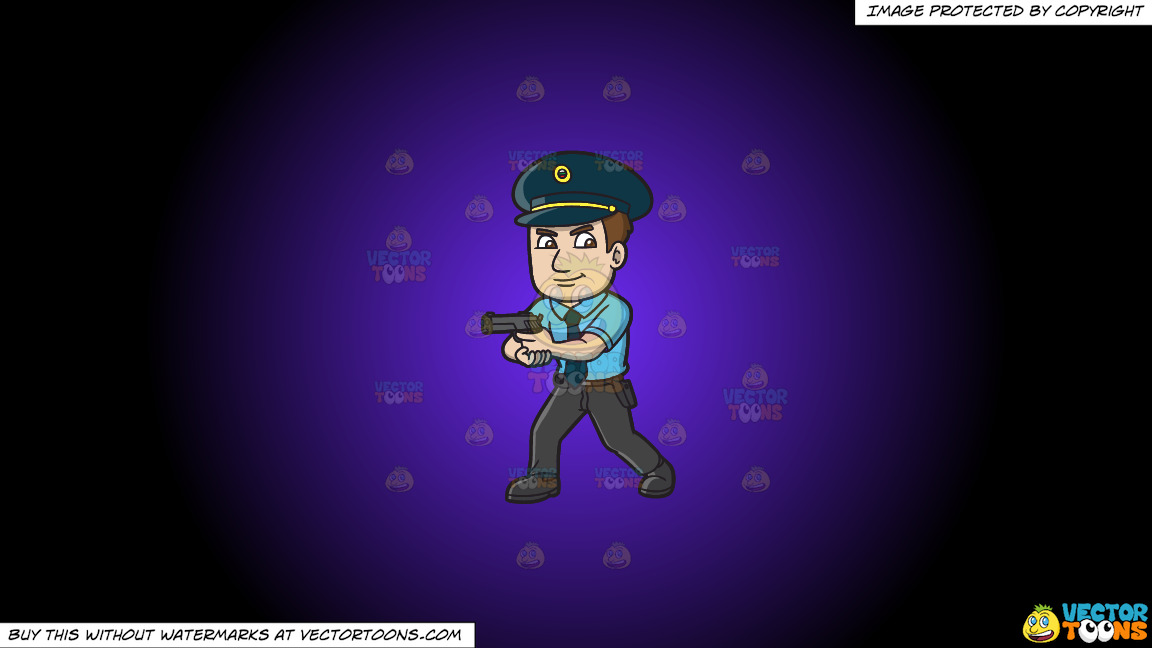 A Hungarian Police Officer On A Purple And Black Gradient Background thumbnail