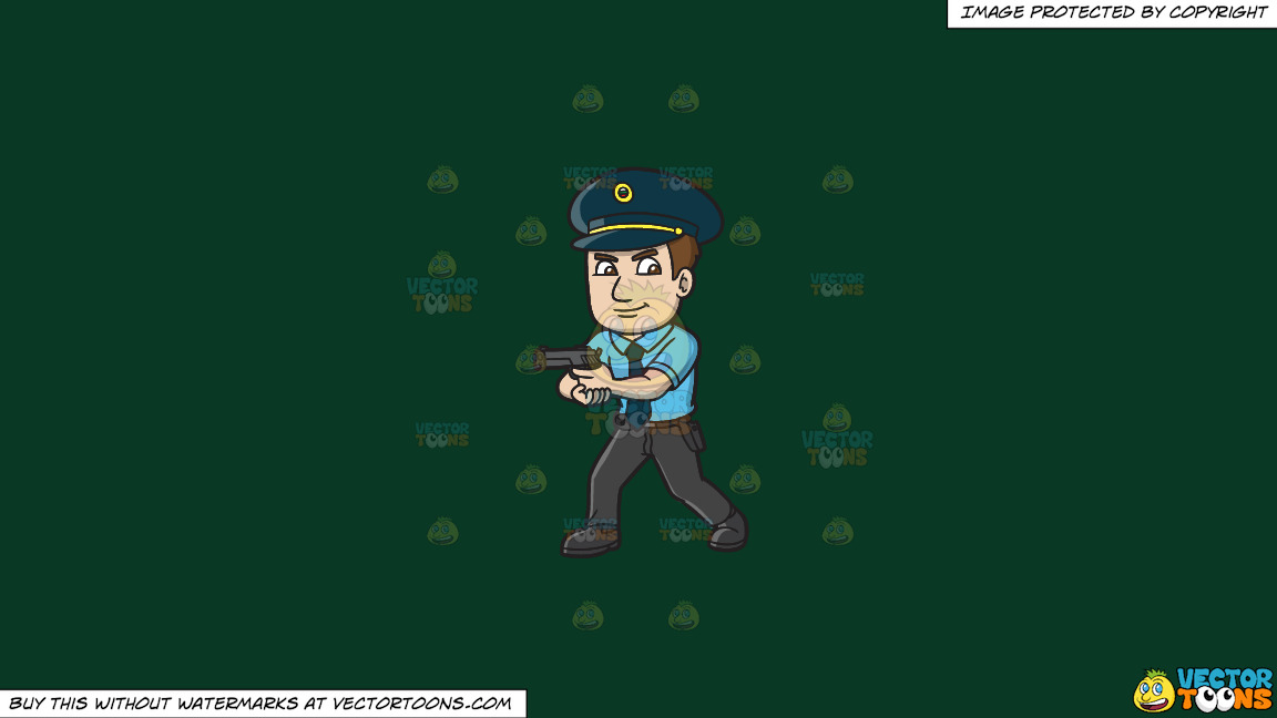 A Hungarian Police Officer On A Solid Dark Green 093824 Background thumbnail