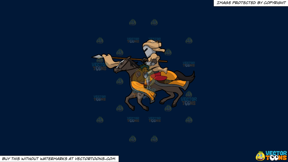 A Jousting Knight On A Solid Dark Blue 011936 Background thumbnail