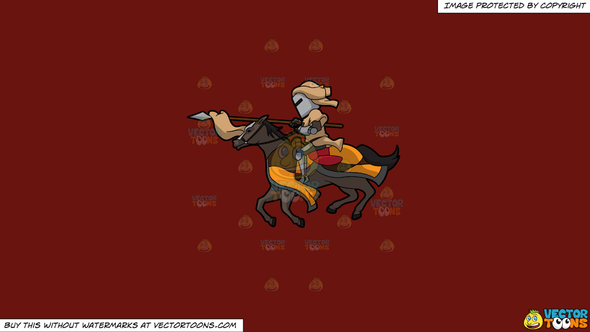 A Jousting Knight On A Solid Maroon 69140e Background thumbnail