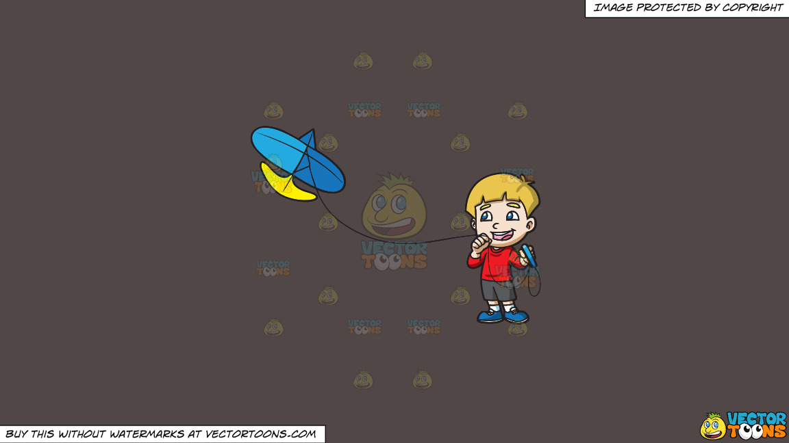 A Joyful Boy Controlling His Kite On A Solid Quartz 504746 Background thumbnail