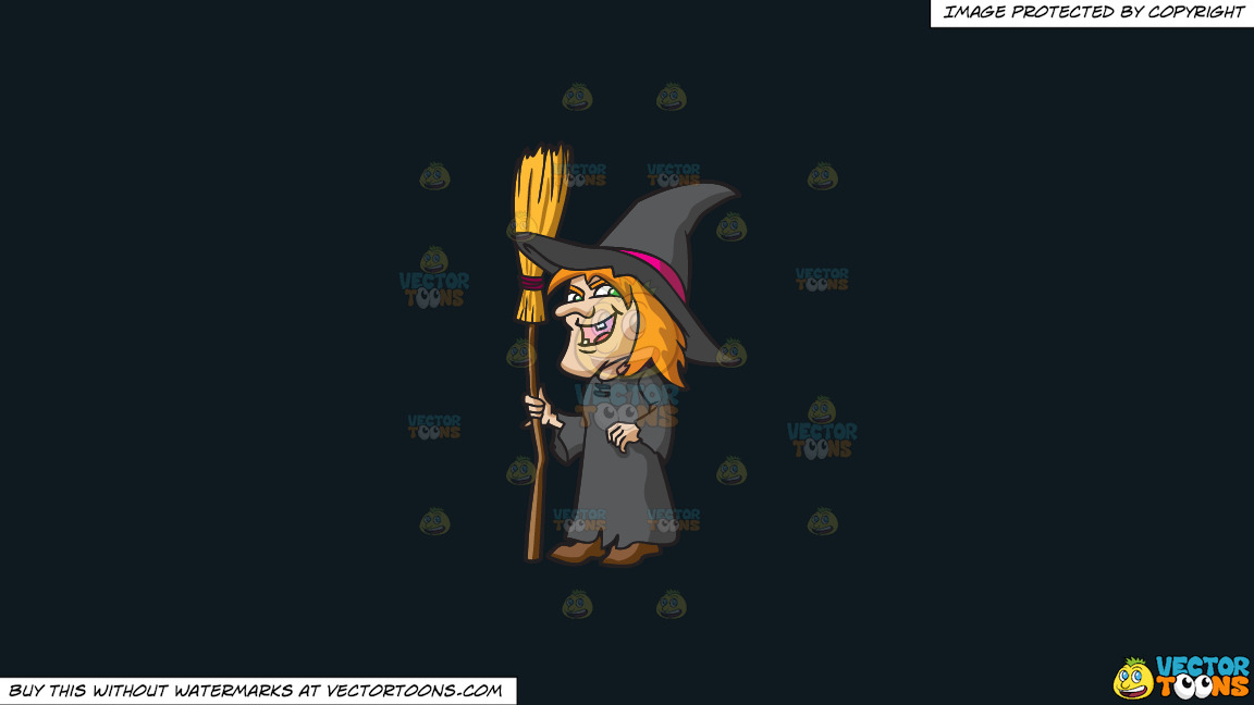 A Laughing Witch On A Solid Off Black 0f1a20 Background thumbnail