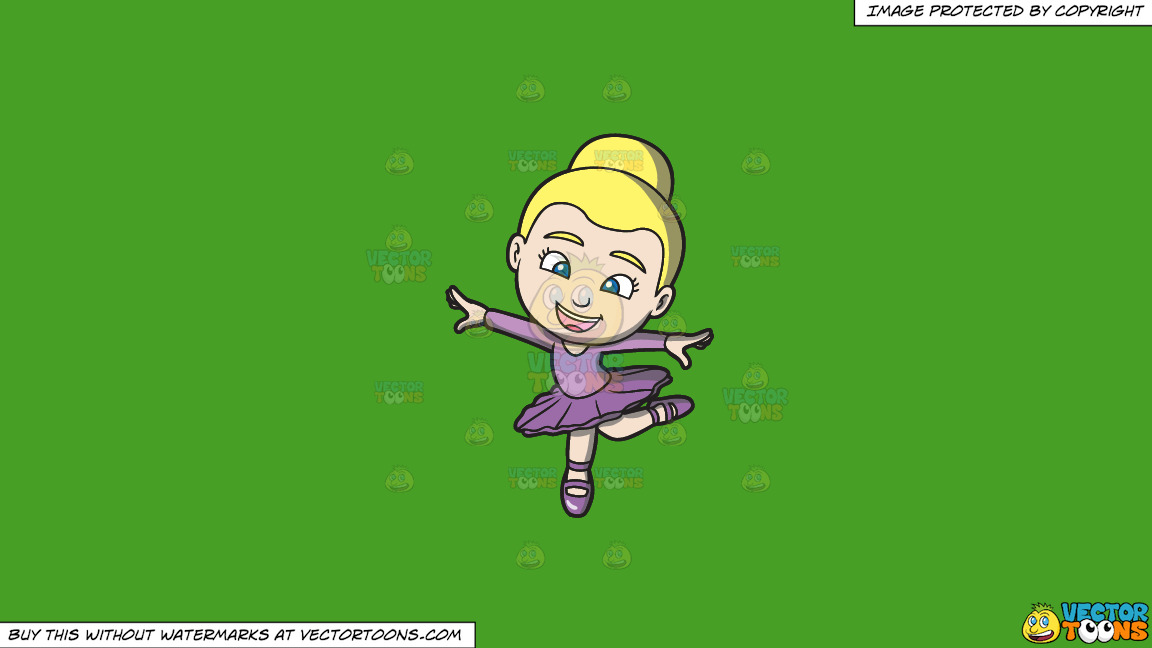 A Little Ballet Dancer On A Solid Kelly Green 47a025 Background thumbnail