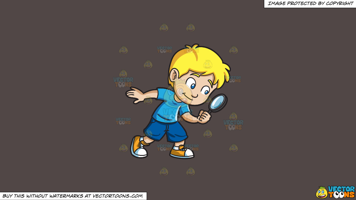 A Little Boy Playing Detective On A Solid Quartz 504746 Background thumbnail