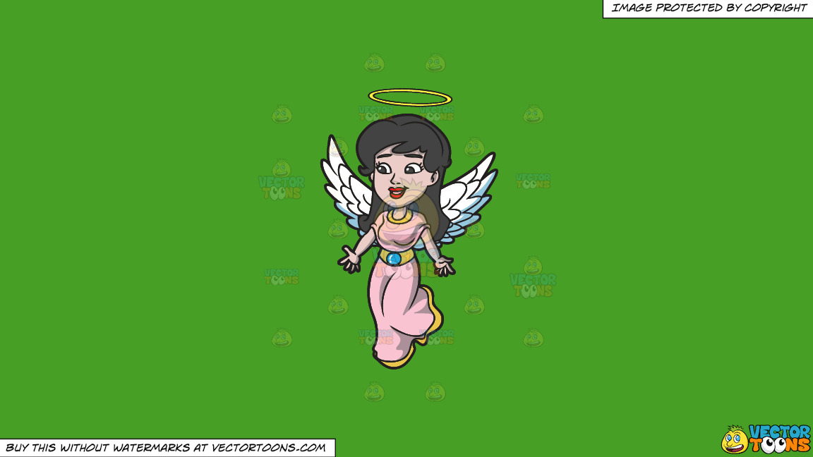 A Lovely Angel On A Solid Kelly Green 47a025 Background thumbnail