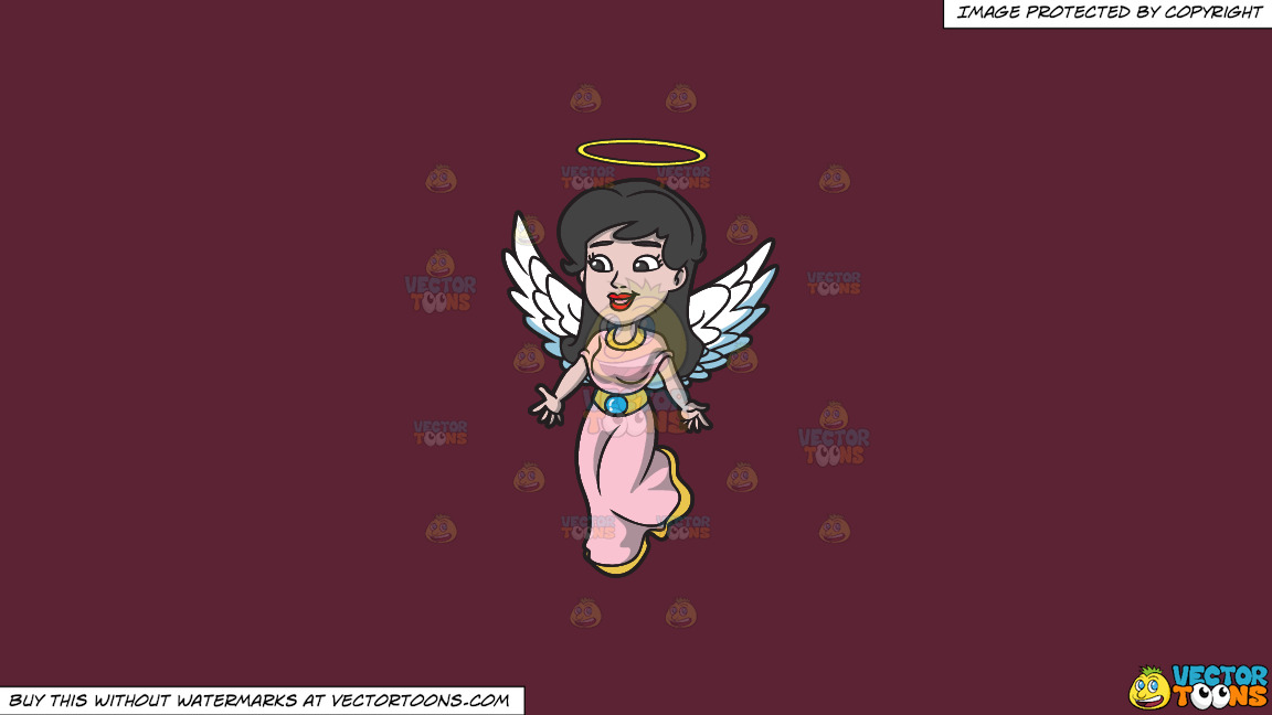 A Lovely Angel On A Solid Red Wine 5b2333 Background thumbnail