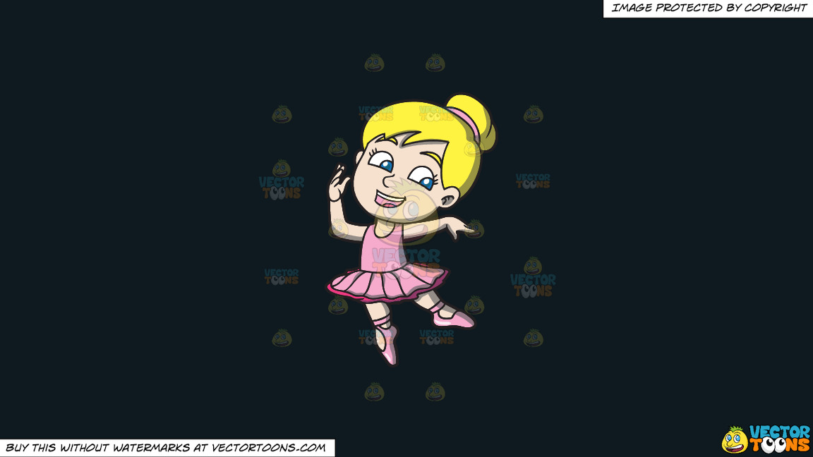 A Lovely Little Ballerina On A Solid Off Black 0f1a20 Background thumbnail