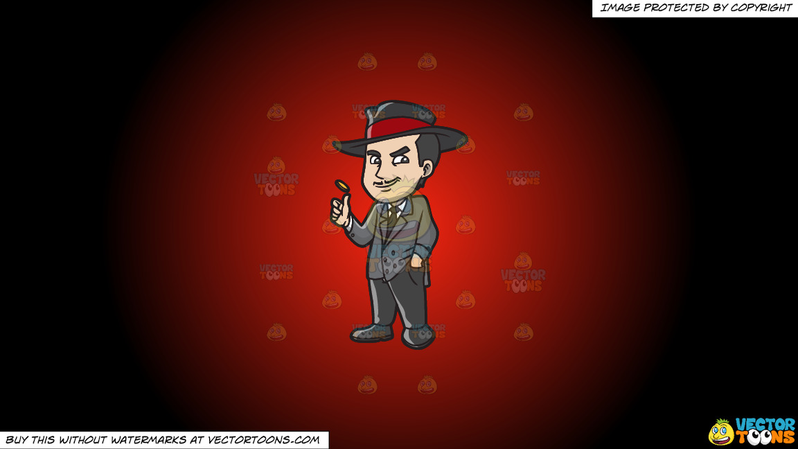A Mafia Gambler On A Red And Black Gradient Background thumbnail