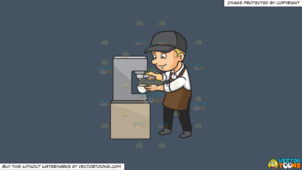 A Male Barista Making Espresso On A Solid Metal Grey 465362 Background thumbnail