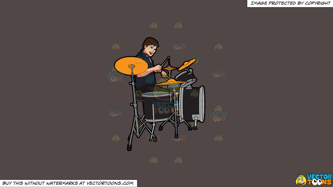 A Male Drummer On A Solid Quartz 504746 Background thumbnail