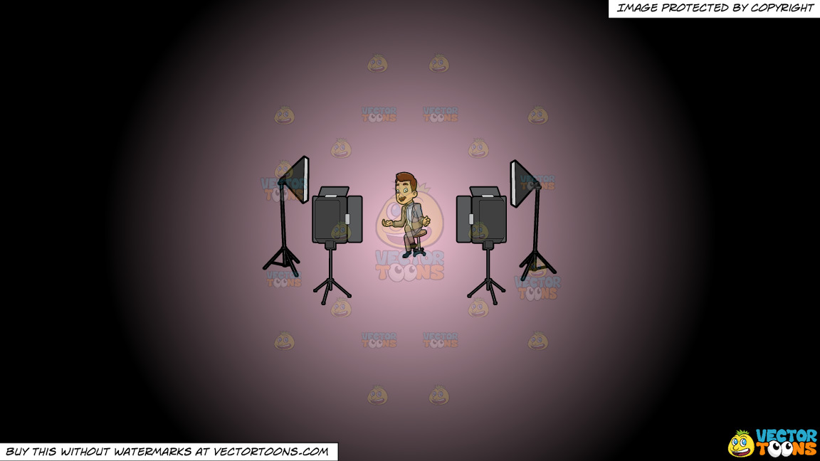 A Male Veteran Host Filming An Episode Of His Show On A Pink And Black Gradient Background thumbnail