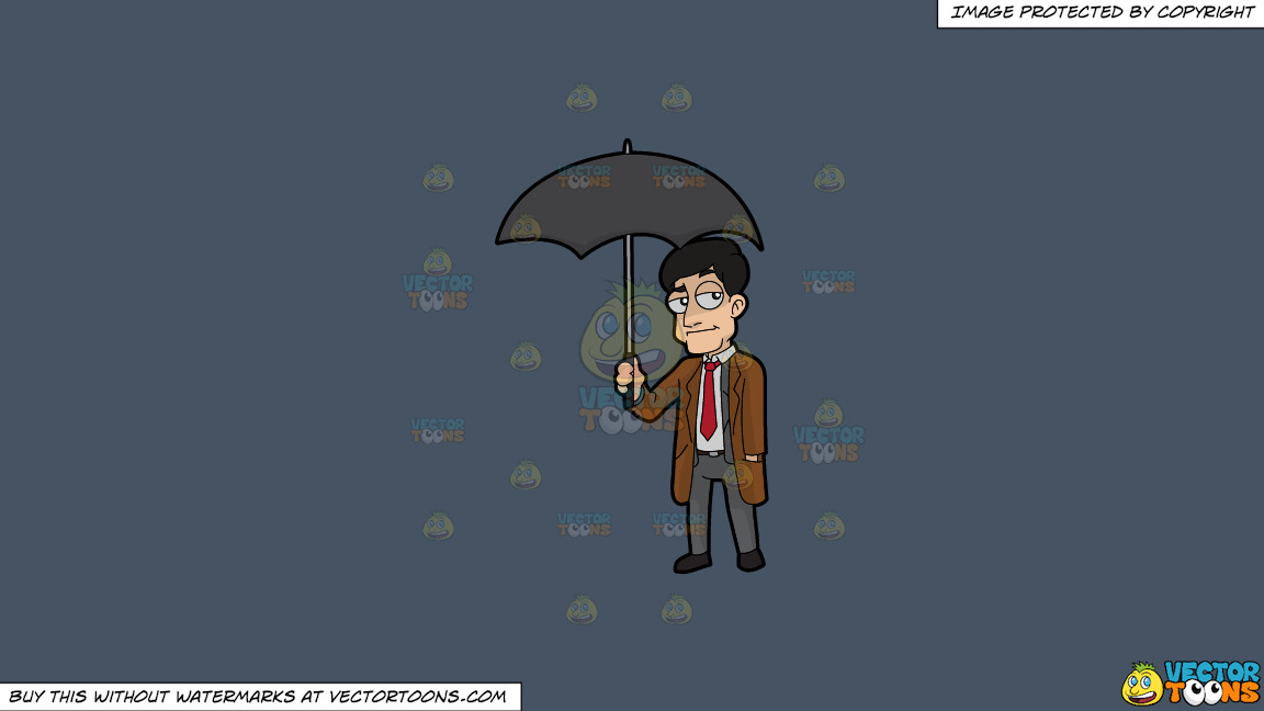 A Man Carrying An Umbrella On A Solid Metal Grey 465362 Background thumbnail