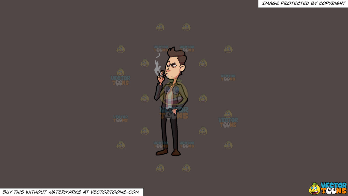 A Man Casually Smokes Weed On A Solid Quartz 504746 Background thumbnail