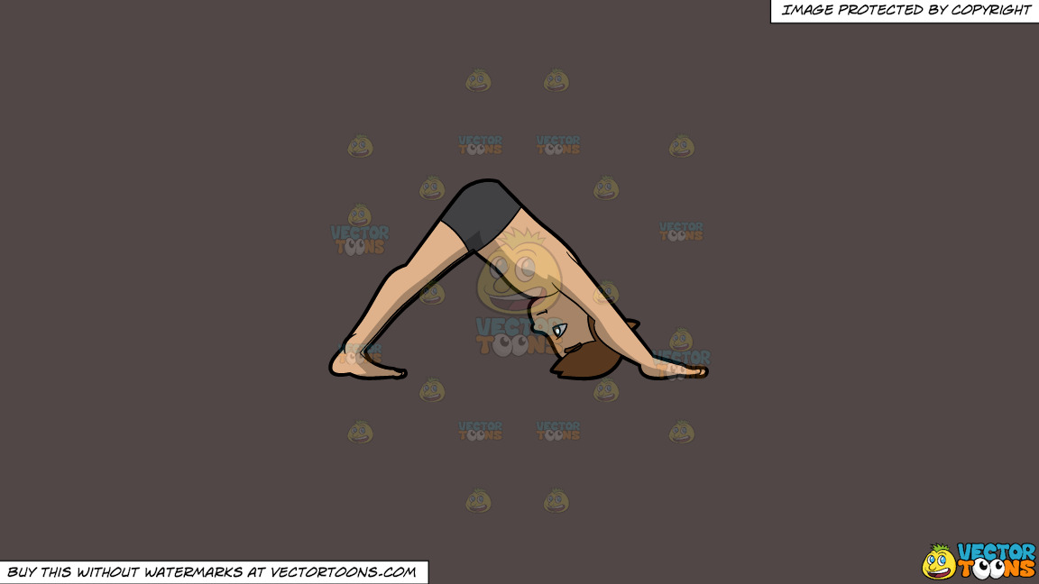 A Man Doing A Downward Facing Dog Yoga Pose On A Solid Quartz 504746 Background thumbnail