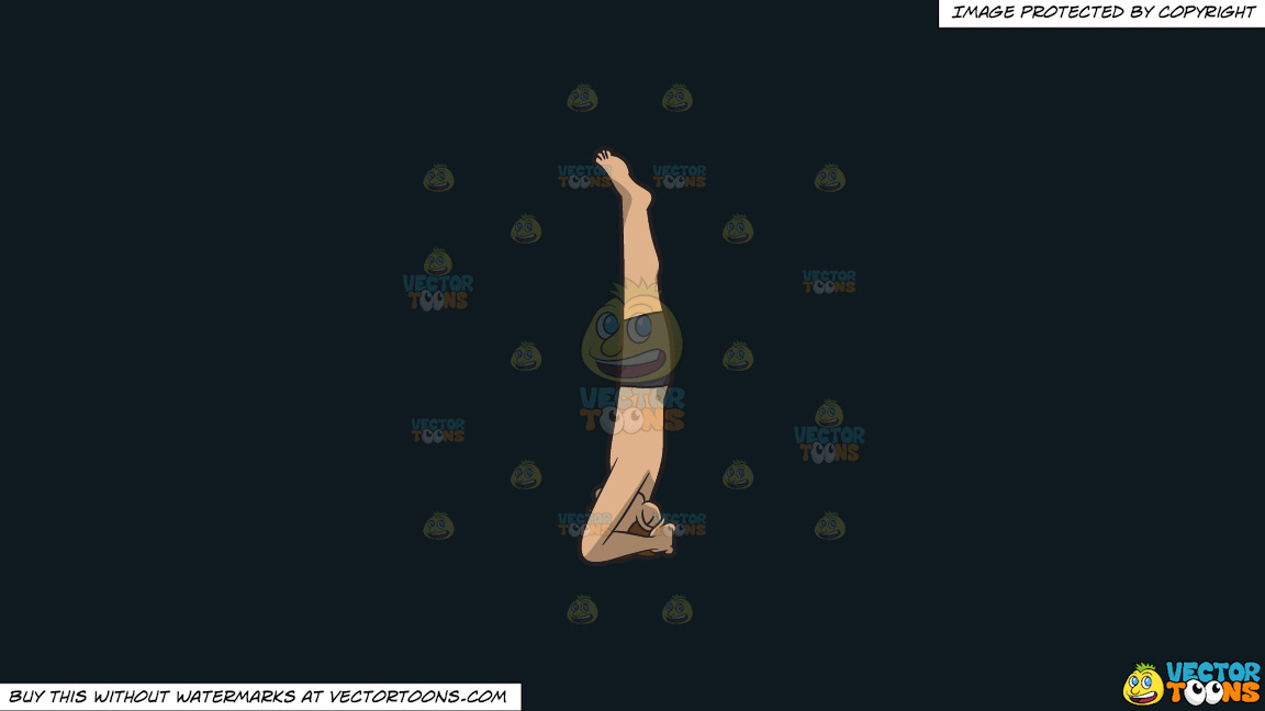 A Man Doing A Variant Of The Headstand Yoga Pose On A Solid Off Black 0f1a20 Background thumbnail