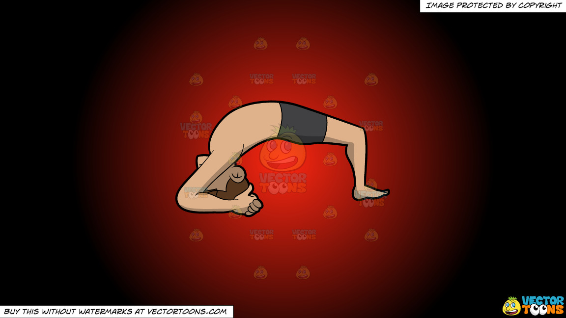 A Man Doing The Two Leg Inverted Staff Yoga Pose On A Red And Black Gradient Background thumbnail