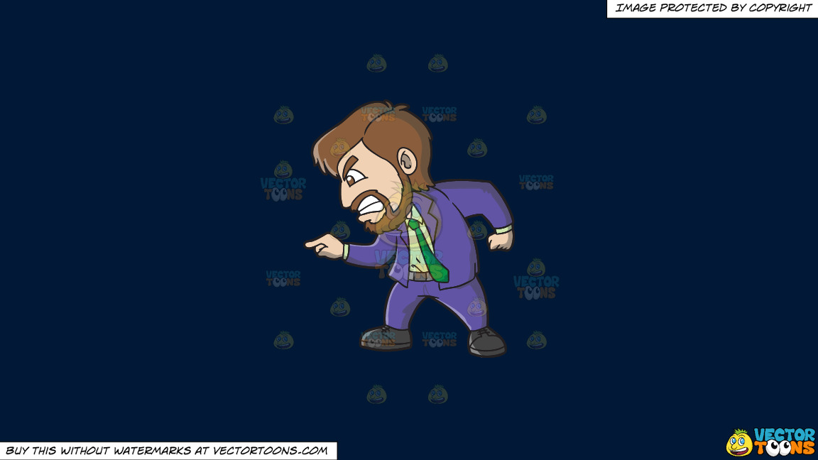 A Man Furiously Pointing At Somebody On A Solid Dark Blue 011936 Background thumbnail
