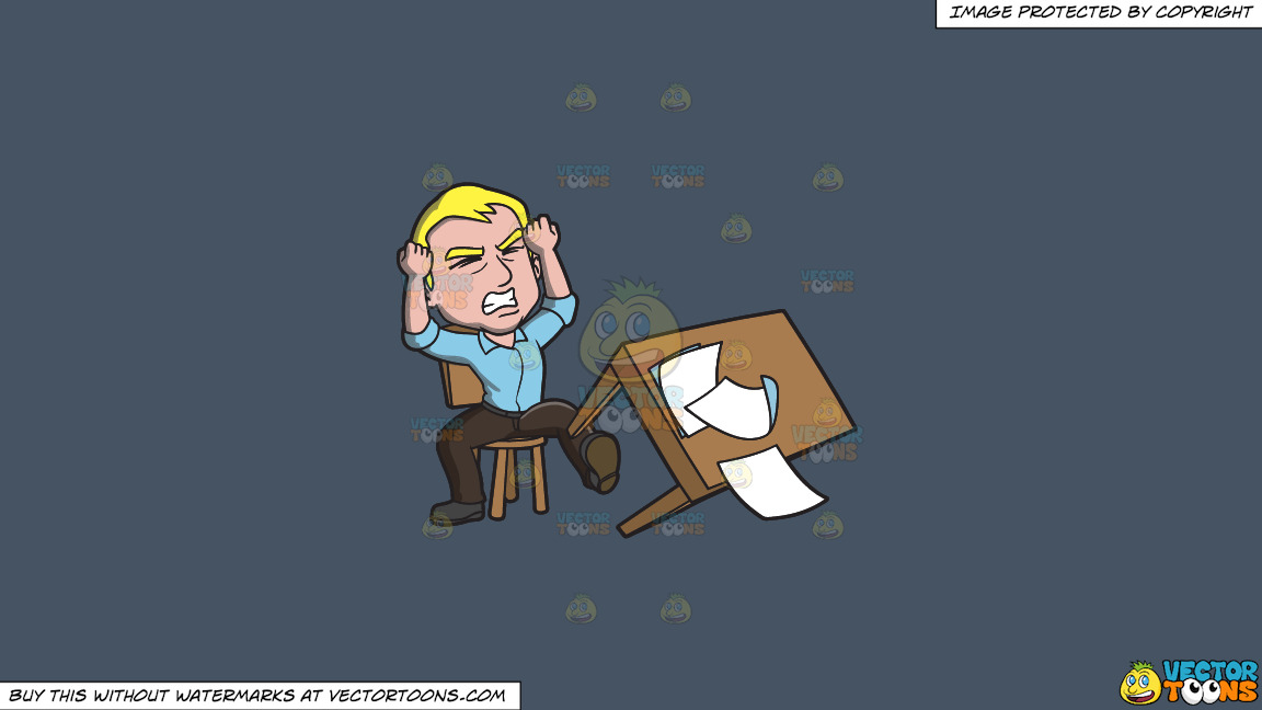 A Man Kicking His Desk In Anger On A Solid Metal Grey 465362 Background thumbnail