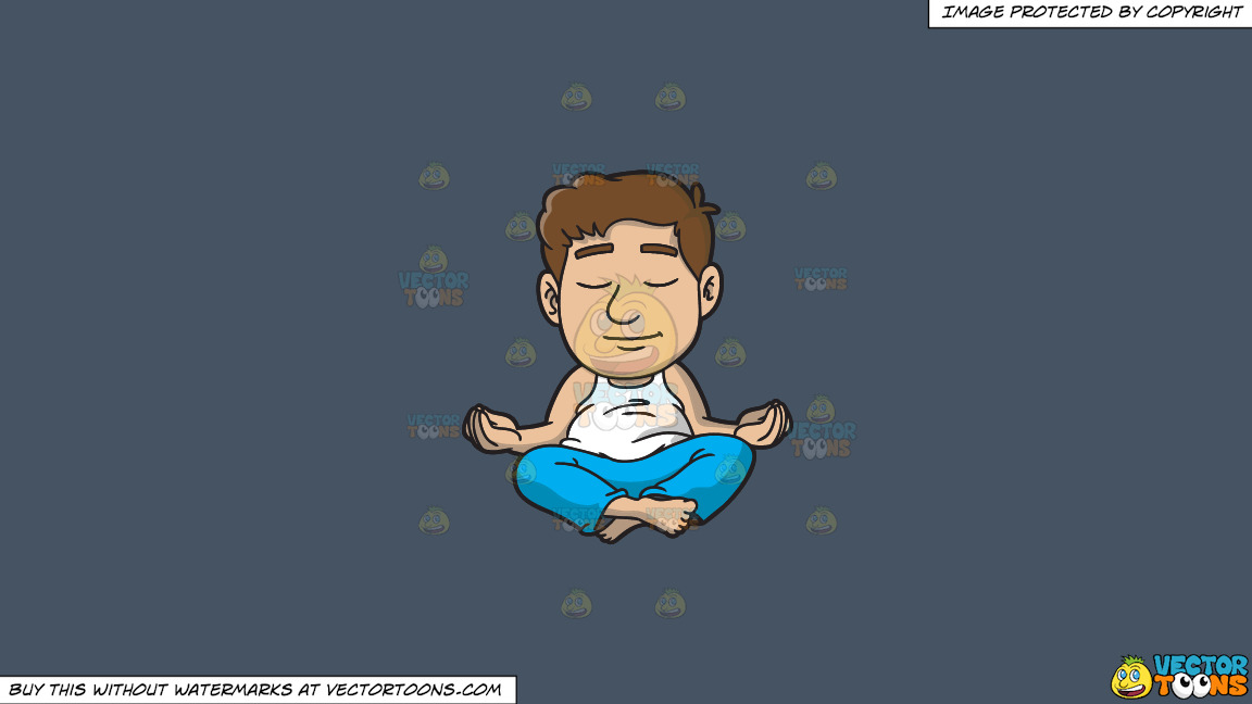 A Man Meditating At Home On A Solid Metal Grey 465362 Background thumbnail