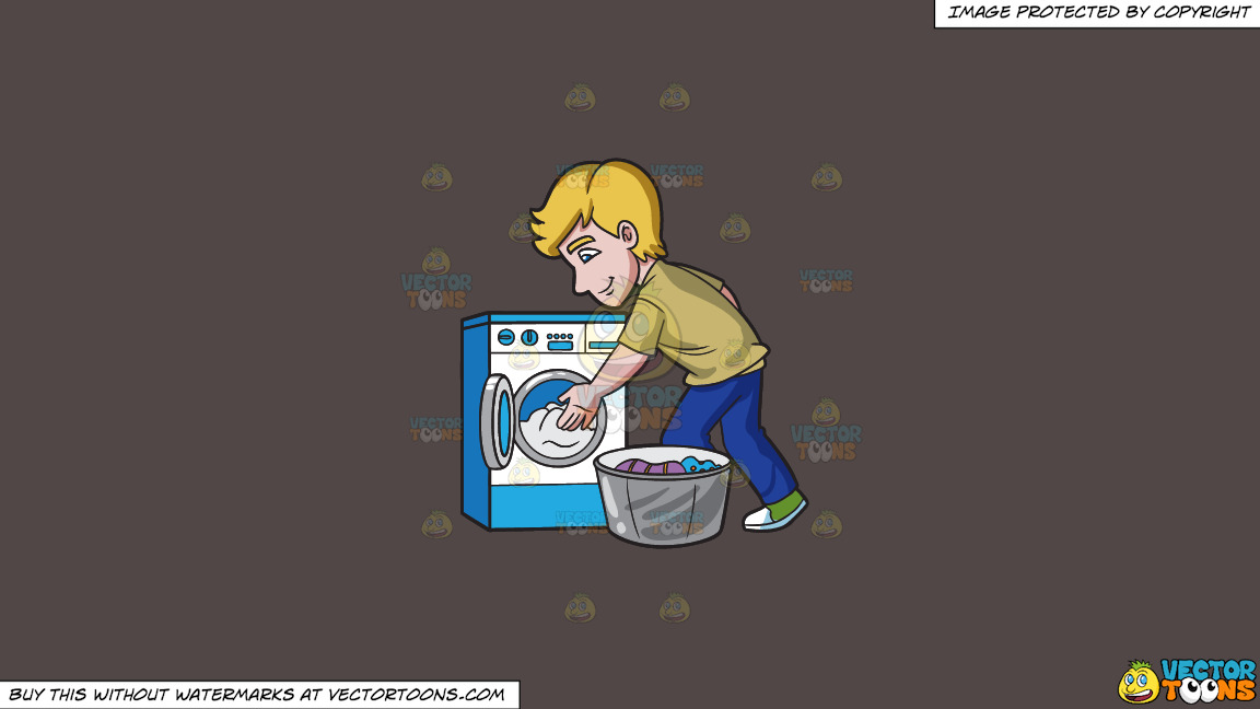 A Man Places The Clothes In The Washing Machine On A Solid Quartz 504746 Background thumbnail