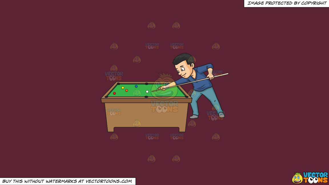 A Man Playing Billiards On A Solid Red Wine 5b2333 Background thumbnail