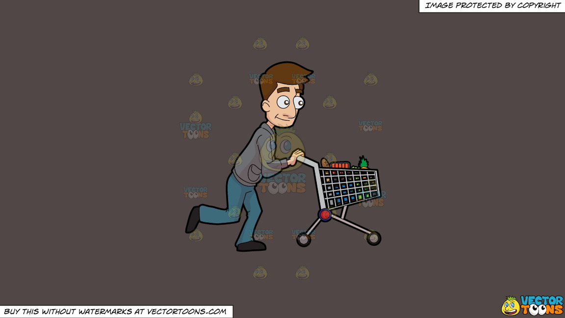 A Man Pushing A Grocery Cart On A Solid Quartz 504746 Background thumbnail