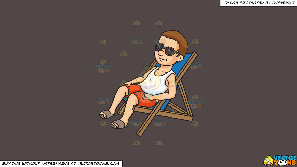 A Man Relaxing On A Lounger On A Solid Quartz 504746 Background thumbnail