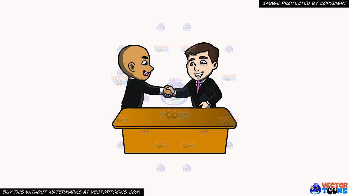 A Man Shaking The Hand Of A Newly Hired Employee On A Solid White Smoke F7f4f3 Background thumbnail