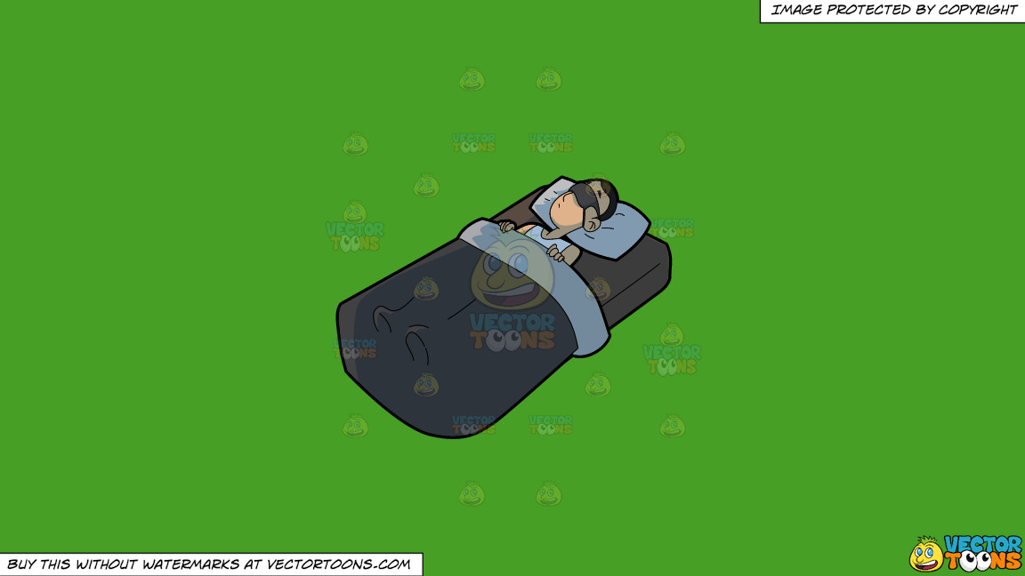 A Man Sleeping Soundly On A Solid Kelly Green 47a025 Background thumbnail