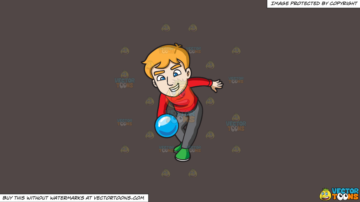 A Man Throwing A Blue Bowling Ball On A Solid Quartz 504746 Background thumbnail