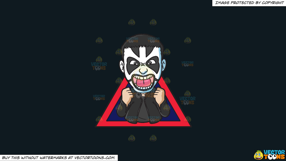 A Man With Face Paint On A Solid Off Black 0f1a20 Background thumbnail