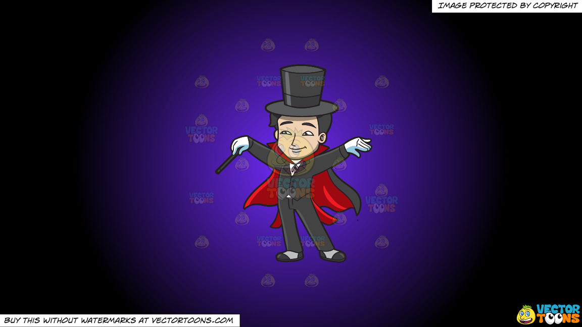 A Master Magician On A Purple And Black Gradient Background thumbnail
