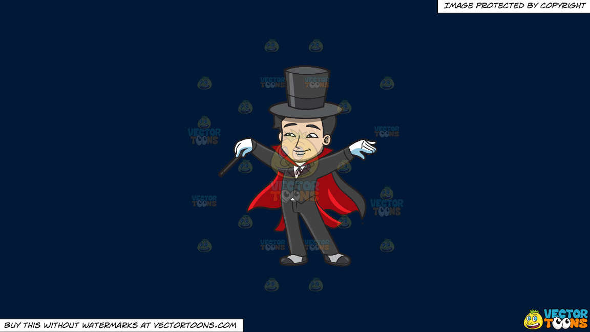 A Master Magician On A Solid Dark Blue 011936 Background thumbnail
