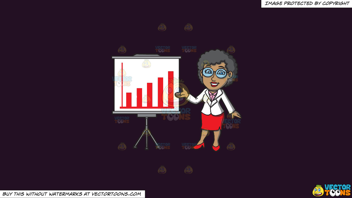 A Mature Black Businesswoman On A Solid Purple Rasin 241023 Background thumbnail