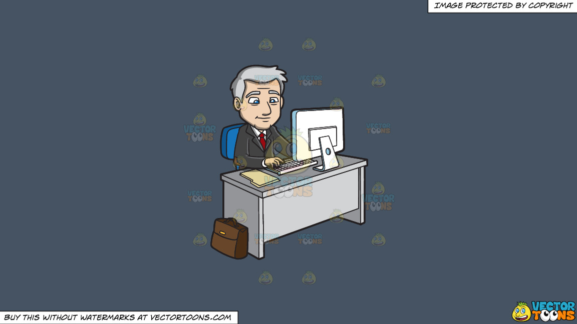 A Mature Businessman Surfing The Internet On A Solid Metal Grey 465362 Background thumbnail