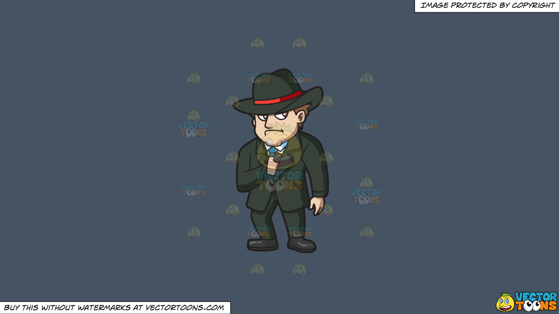 A Mobster Secretly Pulling Out A Gun On A Solid Metal Grey 465362 Background thumbnail
