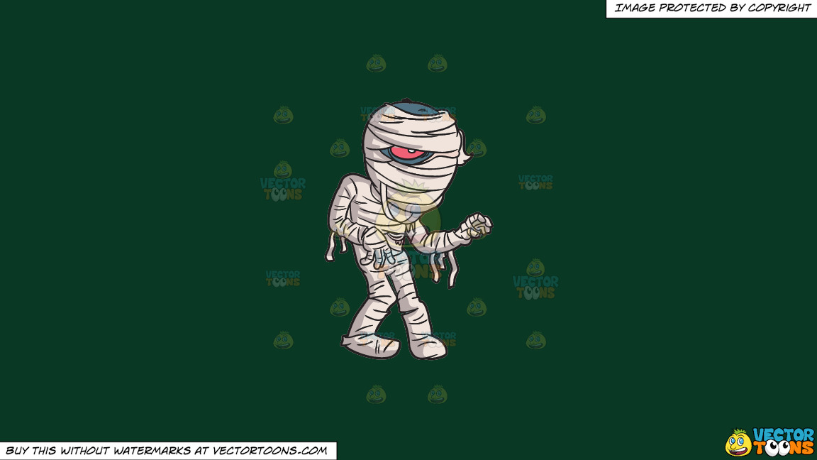 A Mummy From The Crypt On A Solid Dark Green 093824 Background thumbnail