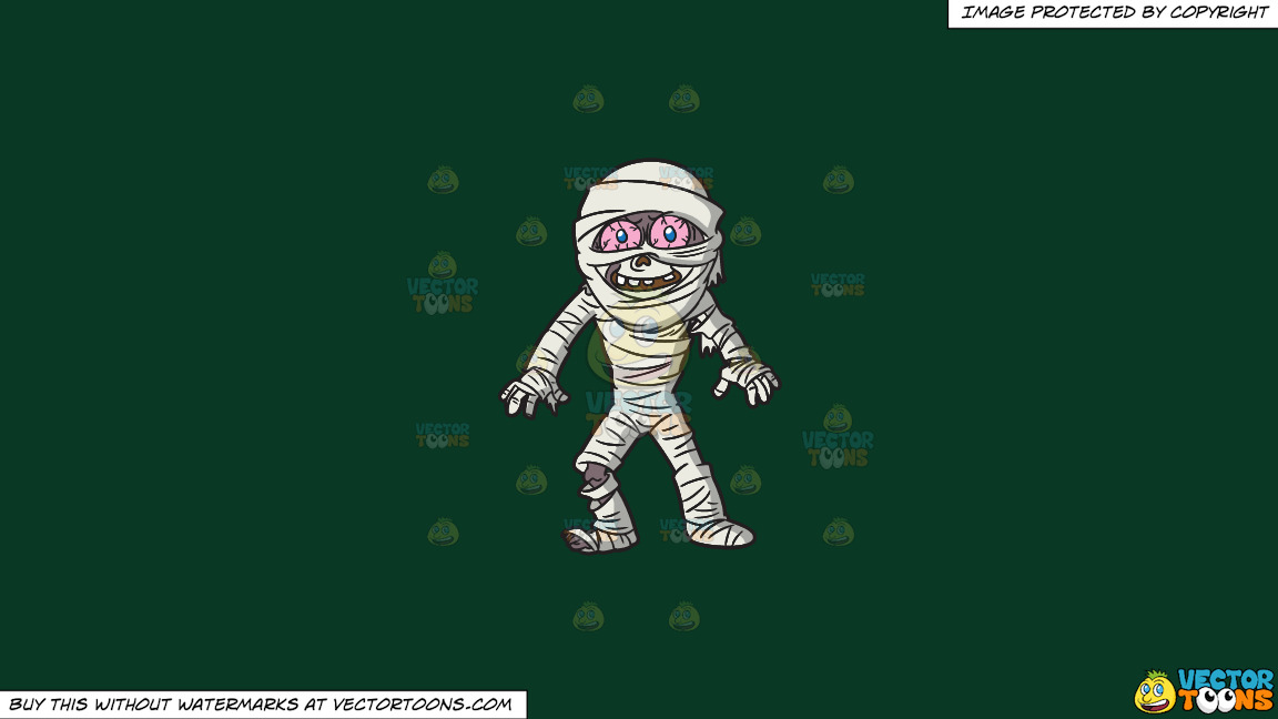 A Mummy Looking Surprised On A Solid Dark Green 093824 Background thumbnail
