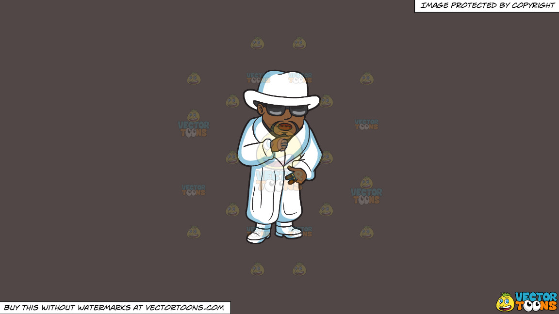 A Pimp In All White On A Solid Quartz 504746 Background thumbnail
