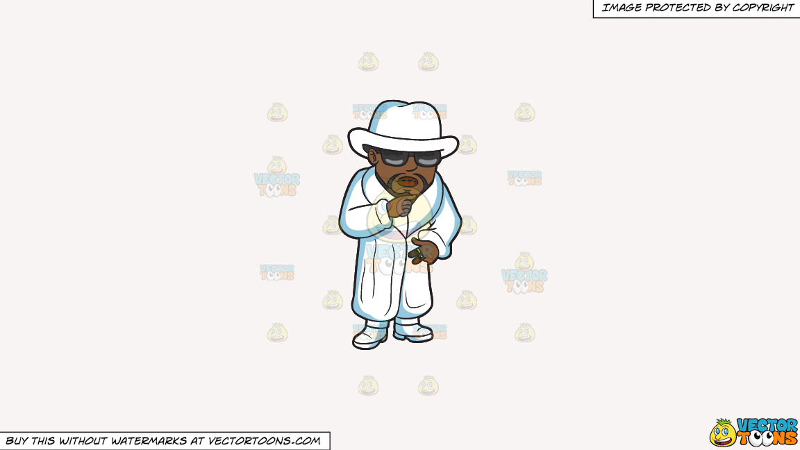 A Pimp In All White On A Solid White Smoke F7f4f3 Background thumbnail