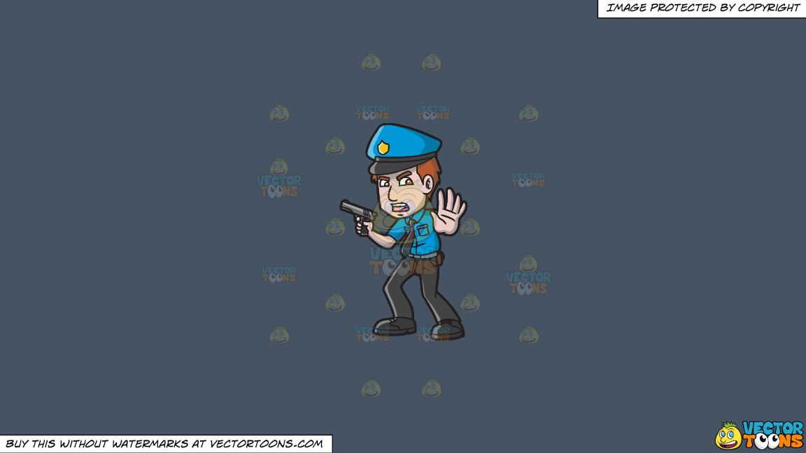 A Police Officer Asking People To Back Off On A Solid Metal Grey 465362 Background thumbnail