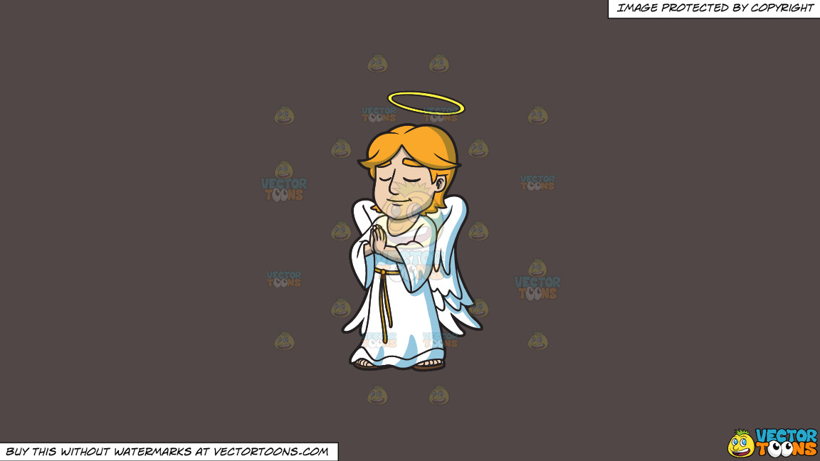 A Praying Angel On A Solid Quartz 504746 Background thumbnail