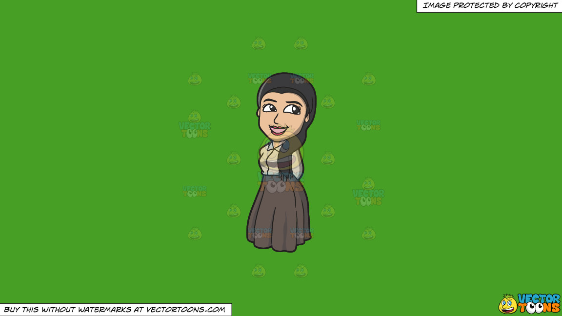 A Pretty Jewish Woman On A Solid Kelly Green 47a025 Background thumbnail