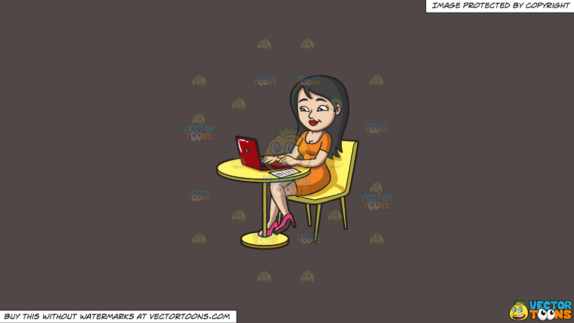 A Pretty Woman Paying Her Bills Online On A Solid Quartz 504746 Background thumbnail